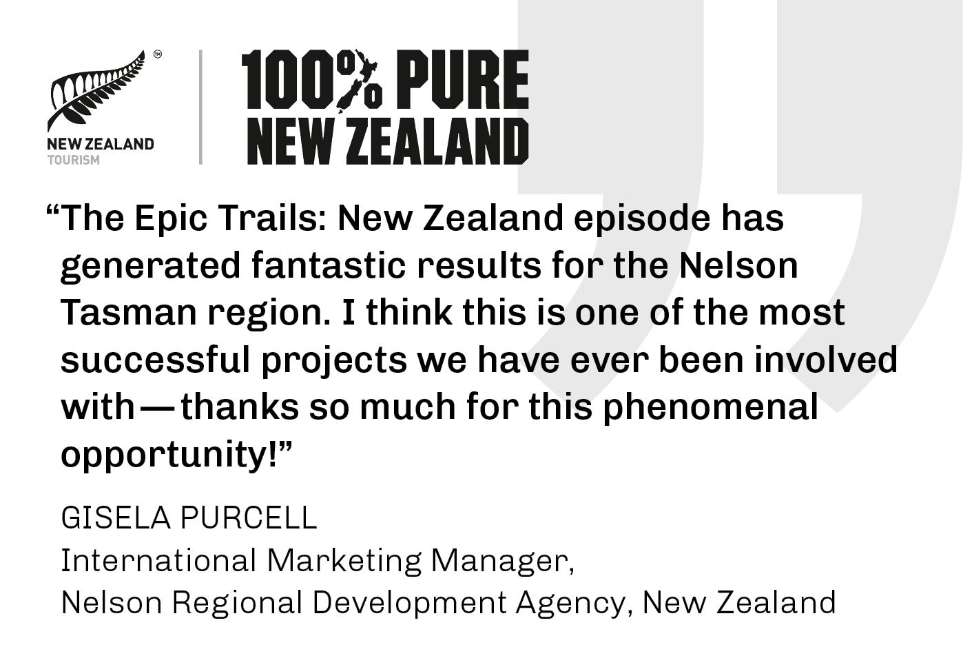 100% Pure New Zealand - Testimonial