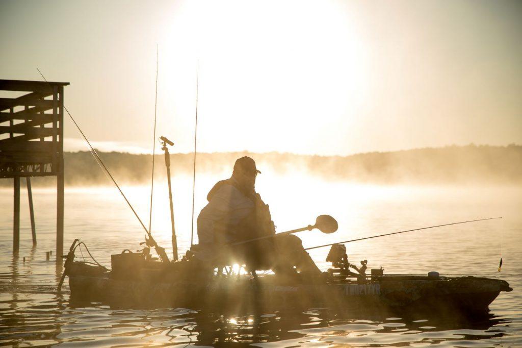 Chad fishing_sun rise_Kentucky Lake, TN