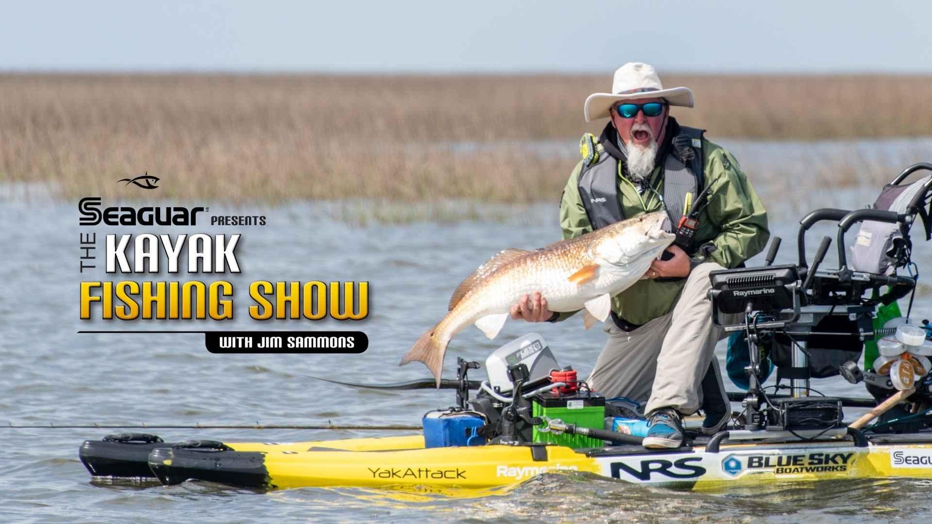 kayak fishing show season 12 premier banner with jim sammons